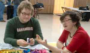Lady Rivka's embroidery class