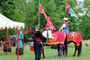 At last year's Equestrian Championships, the current champions were introduced to the Crown.