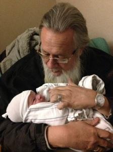 Tegen with Grandpa Gilbert.