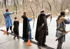 Archery at basement