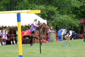 Last year's Kingdom Equestrian Championship - THL Meadhbh riding the course.