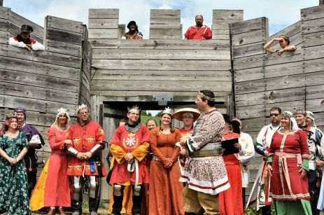 Æthelmearc Royaltt at Pennsic 42 Opening Ceremonies. Photo by ...