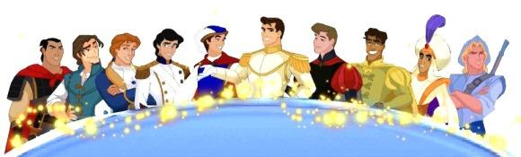 The current gamut of Disney Princes, courtesy of http://disneyprincess.wikia.com