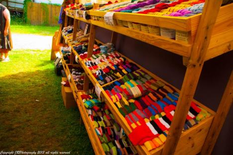 Yes, you can buy socks at Pennsic. Photo by Master Augusto Giuseppe da San Donato