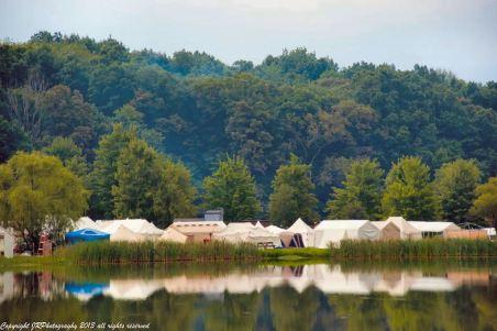 tent reflected in lake - Joe