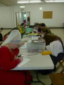 Scribes compete in Iron Scribe VI. Photo by: THLady Ursula of Rouen