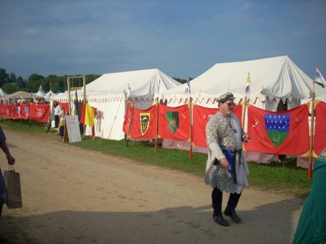 Aethelmearc Royal encampment, a few years past. Photo credit, Aoife