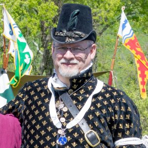 A Premier member of Atlantia's Order of Defence. Photo by Aine Ruadh Inghean Neill