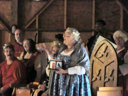 Baroness Sadira receives the new mathom. Photo by Steffan Wolfgang von Ravensburg.