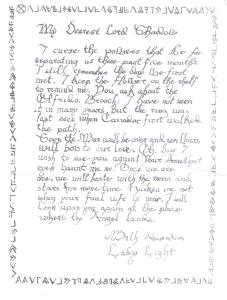 "The cipher letter they ""intercepted"""