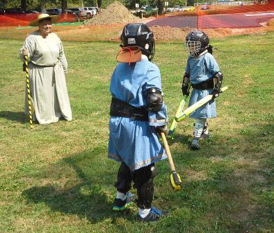 Youth combat, Jay vs. Otto. Photo by Master Alaric MacConnal.