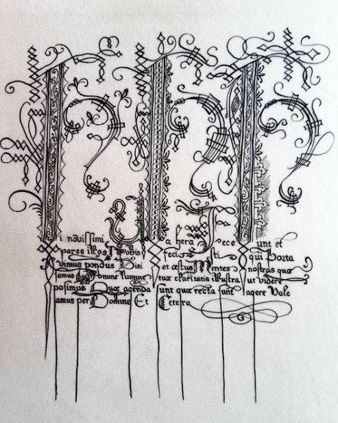 Closeup of THL Kieran's scroll. Photo by THL Kieran.