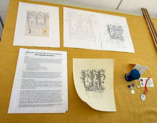 Calligraphy by THLord Kieran MacRae. Photo by Lord Kieran.