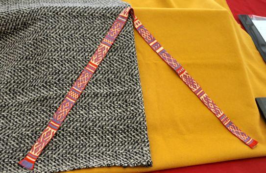 Tablet weaving by Viscountess Rosalinde Ashworth. Photo by Mistress Rowena ni Dhonnchaidh.