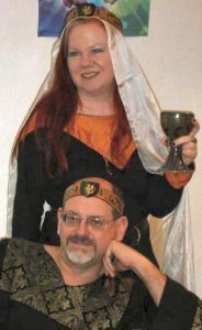 Baron Carolus and Baroness Isolda of the Rhydderich Hael. Photo from the Baronial website.