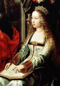 Isabella. Queen of Castile,1520 by Gerard David