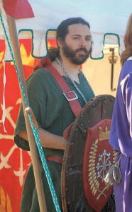 THLord Darien of the Wood, recipient of the Shield of Chivalry. Photo by Lady Àine ny Allane.