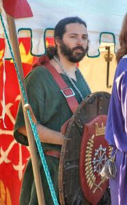 THLord Darian of the Wood, recipient of the Shield of Chivalry. Photo by Lady Àine ny Allane.