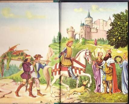"Schloss von Tannenacker was based on this illustration by Fritz Kredel from ""Grimm's Fairytales"" which Lord Richard often read as a child"