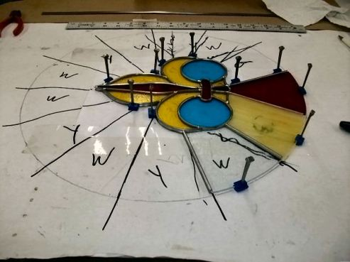 Making a stained glass window for the chapel