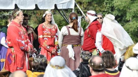 Tribe Tuatha Firen is inducted into the Keystone. Photo by Baron Steffan.