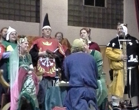 Lord Mael Daine is inducted into the Golden Alce.