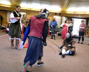 Free Scholar Tourney Finals, Lord Durante de Caravaggio vs. Lord Jacob Martinson. Photo by Arianna.