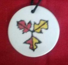 Ceramic Alce medallion