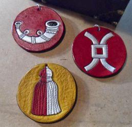 Magnus leather medallions