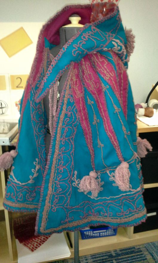 Embroidered cloak Irene AandS
