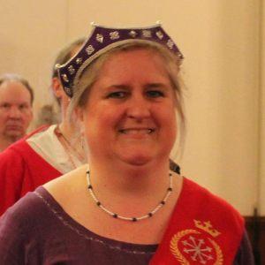 Æthelmearc Artisan Exchange coordinator, Baroness Oddkatla Jonsdottir.