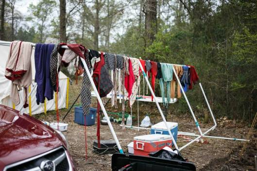 Clothes drying after storm - Silence