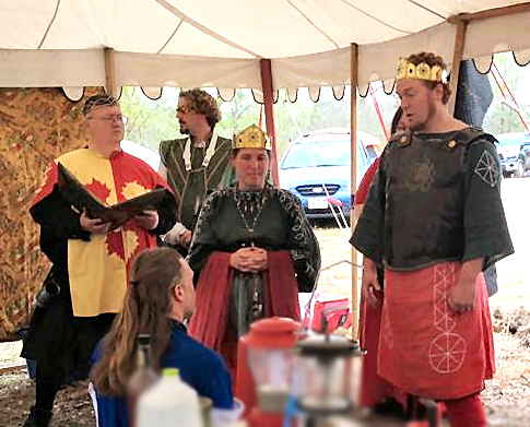 THLord Marek is called to consider elevation to the Chivalry. Photo by THLady Phelippe Pippi Ulfsdottir.