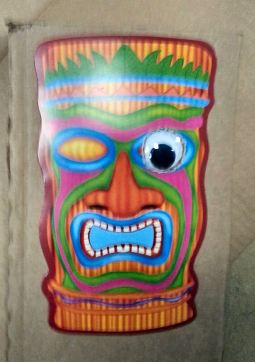 Tiki mask one googly eye