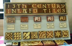 Tiles by Lord Ian Campbell of Glen Mor. Photo by Lady Aine ny Allane.