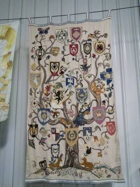 embroidered kingdom family tree