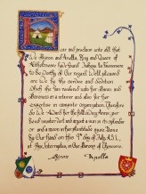 Scroll by Lady Felice de Thornton