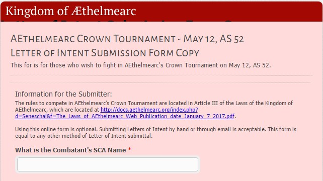 Crown Letters Of Intent Due April   The thelmearc Gazette