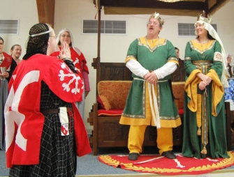 Lady Kathryn receives a Sycamore. Photo by Lady Aine.