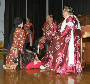Lady Juliana receives a Grant of Arms