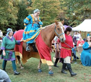 Elisabeth on horseback
