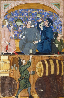Detail of People Drinking