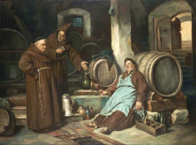 Monks in Cellar