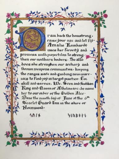 Amalie Alce scroll