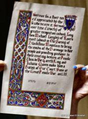 Michael Langley Baron scroll