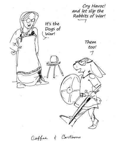coffee&cartoons - rabbits of war
