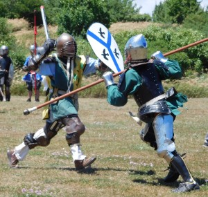 Baron Sir Athos participating in the fighting at Pax in 2016. Photo by Baroness Katja
